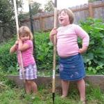 Farming at their grandparents'