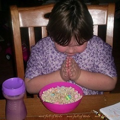 Theresa praying