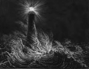 The wise man built his house upon the Rock - and shone His light for ALL to see. Even in a severe storm.