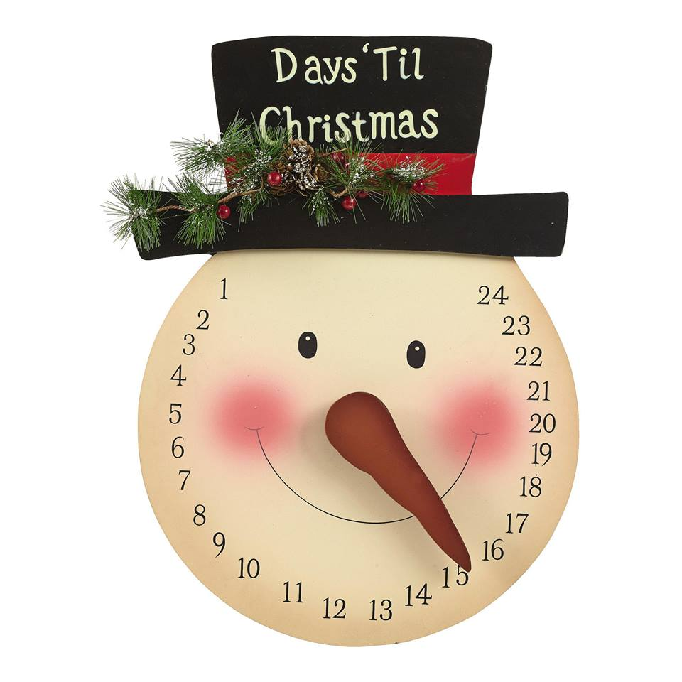 frosty countdown from pinterest - Countdown Till Christmas Decoration