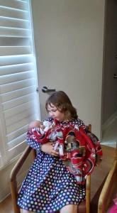 Theresa, holding Jackson hours after he was born.