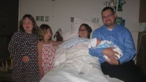 The Tirado 5, hours after Jackson was born.